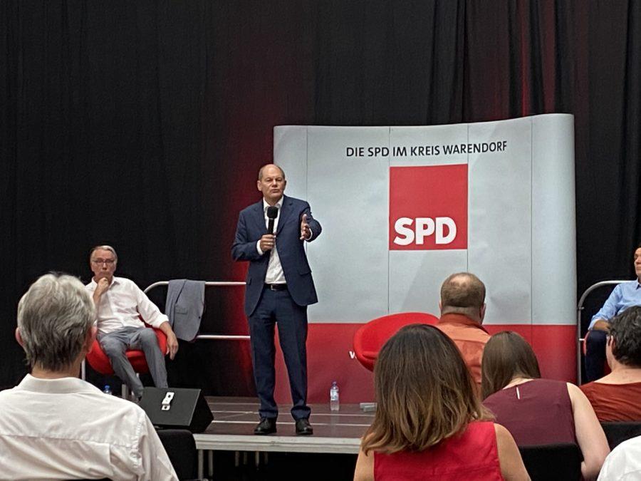 SPD Kanzlerkandidat Olaf Scholz über die aktuellen politischen Fragen und die Perspektiven für Deutschland