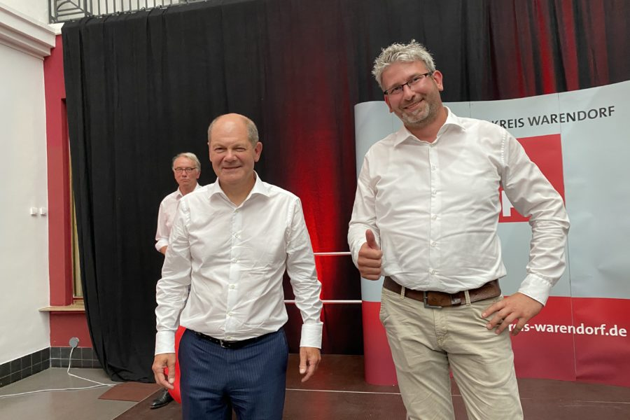 Olaf Scholz unterstützt auch uns im Kommunalwahlkampf 2020
